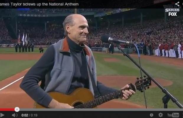 James Taylor handles goof with grace!