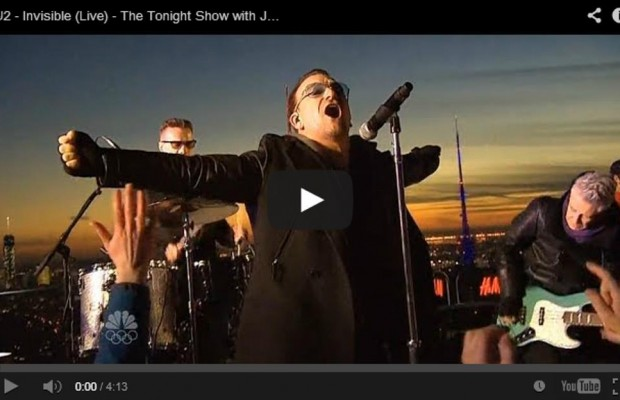 U2 are first musical guest on The Tonight Show